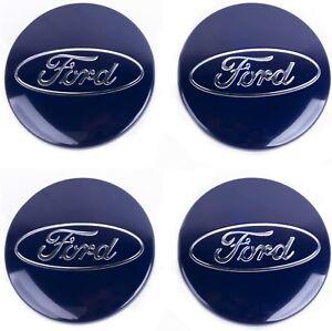 4x Ford Nabendeckel Nabenkappen Felgendeckel 54mm Blau 6M21-1003AA NEU TOP!!!