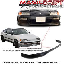 88-91 90 Honda Civic JDM Front Bumper Flexible PU Lip (Urethane)
