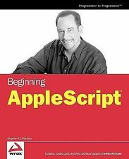 Beginning AppleScript: By Kochan, Stephen G.