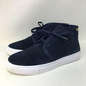 Tory Burch Iggy Blue Suede White Rubber Sole Sneaker Shoes 6.5