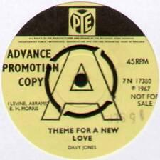 """[MONKEES] DAVY JONES~THEME FOR A NEW LOVE / DREAM GIRL~1967 UK """"PROMO"""" 7"""" SINGLE"""