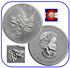 2016 Canada Maple Leaf Wolf Privy 1 oz Reverse Proof Silver Coin in capsule