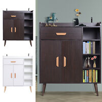 Side Cabinet Hallway Storage Unit Console Table Entrance Shelf Cupboard 2 color