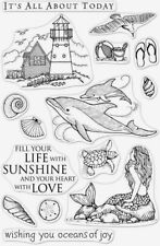Hero Arts Poly Clear Stamps Set BEACH AND SEA From The Vault CM361