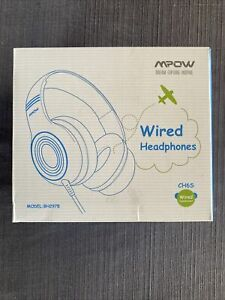 Mpow CH6S  Over Ear Headphones - light teal and pink.