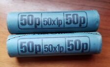 More details for  100 x 1984 uncirculated one pence coins in 2 unopened bank rolls of 50 bunc