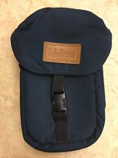Vintage Leather LL BEAN Navy Mini Bag Fanny Side Travel Blue - Freeport, Maine