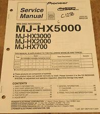 PIONEER MJ-HX5000 HX3000 HX2000 HX700 MINIDISC RECORDER SERVICE REPAIR MANUAL