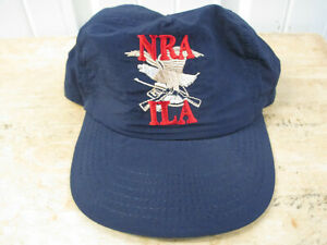 VINTAGE NATIONAL RIFLE ASSOCIATION N.R.A.-ILA SEWN SNAPBACK CAP HAT MADE IN USA