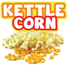 Kettle Corn Concession Decal Sign Cart Trailer Stand Sticker Equipment