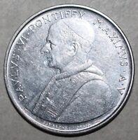 Vatican City 100 Lire Coin, 1967 - KM# 98 - Pope Paul VI One Hundred MCMLXVII