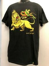 LION OF JUDAH WITH STAFF RED GOLD GREEN & CROWN BLACK T SHIRT LTD QUANTITY 058