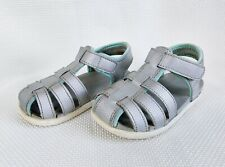 See Kai Run Girls Sandals 8 Silver Water Friendly Closed Toe Casual Shoes