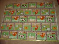 Farm Barnyard Rooster Cow Pig VTG Springs Industries Panel Cotton Fabric 1yd