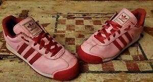 Adidas Samba - Pink/Red D74383 Cute Hearts With Zebra Design Women's Size 7