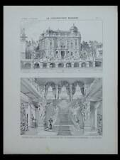 EXPOSITION 1900, PAVILLON AUTRICHE - PLANCHE ARCHITECTURE-