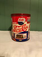 Vintage 1994 Collectible Pepsi Cola Round Popcorn Ad Tin Can Vintage inspired