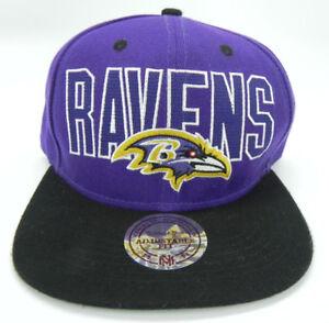 BALTIMORE RAVENS NFL MITCHELL & NESS VINTAGE BLOCK SNAPBACK 2-TONE CAP HAT