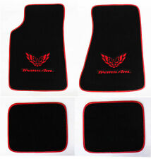 NEW! Carpet Floor Mats 1982-2002 PONTIAC FIREBIRD Trans Am Embroidered Logo 4pc