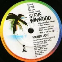 "STEVE WINWOOD higher love 7"" WS EX/ uk island IS 288"