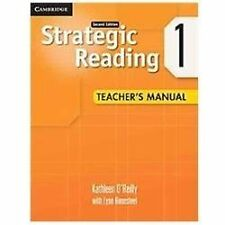 Strategic Reading Level 1 Teacher's Manual by Kathleen O'Reilly (2012,...
