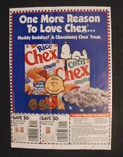 1996 Peanuts CHARLIE BROWN~SNOOPY~JOE COOL~SCHULZ Comic Coupon Supplement Art AD