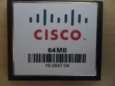 Cisco 64 MB CF Compact Flash Memory Card 1811 1841 2801 2811 2821 2851 3825 3845