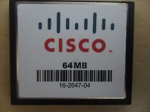 Cisco 64 MB Cf Compact Flash Carte Mémoire 1800 1841 2811 2821 2851 3800 Routeur