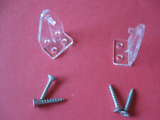 x 2 VENETIAN BLIND HOLD DOWN BRACKETS 25mm WITH SCREWS SUITABLE FOR WOOD BLINDS