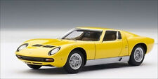 LAMBORGHINI MIURA SV YELLOW 1/43 DIECAST MODEL CAR BY AUTOART 54541