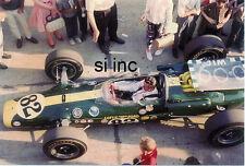 Awesome 1965 Jim Clark Indianapolis 500 Winner 35mm Racing Photo B