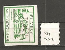 CINDERELLA -SM272 - GB STRIKE MAIL - BANNOCKBURN DELIVERY - 2/-d VALUE