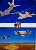 Joint Strike Fighter Lockheed X-35 Boeing X-32 USAF USN USMC Sgnd.13 Test Pilots
