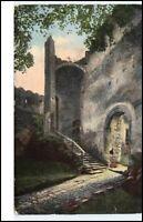 1919 Riesengebirge Schlesien Ruine Kynast Eingang Burg Chojnik Polen alte AK