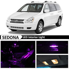 11x Fuchsia Purple Interior LED Lights Package Kit for 2007-2012 Sedona Van