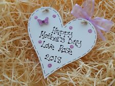 Personalised Mum Mothers Day Heart Plaque Gift