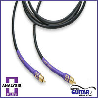 Analysis Plus Sub Oval Interconnect Cable w/ RCA Connectors, Length 2.5 Meters