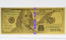 $100 Franklin Federal Reserve Note .999 Fine Gold One Gram 1g Bullion JB529
