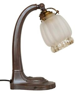 Original Art Nouveau Bedside Table Lamp Piano Lamp 1910 Brass Lamp