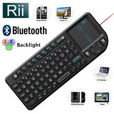 Rii Bluetooth Wireless Mini Keyboard + Backlight + Laser Pointer for PC Tablet