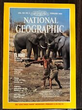 National Geographic February 1984 El Nino Wild Elephant Jordan Praying Mantis