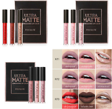FOCALLURE Matte Liquid Lipstick Set - Lip Kit (3 Lip Stick In Kit)