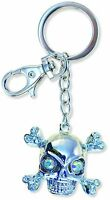 Sparkling Charm Keychain - Pirate Skull NEW Keyring Jewelry Accessories