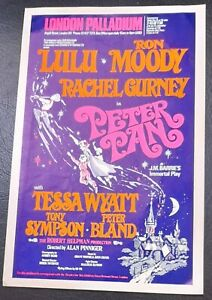 1975 Lulu Ron Moody Peter Pan Flyer London Palladium Pantomime J.M. Barrie