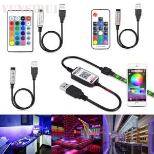 NEW RGB USB LED Strip IR Remote Bluetooth Controller 24Keys 5050 3528 Lamp DC5V