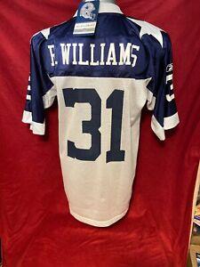 Dallas Cowboys Roy Williams NFL Reebok White Throwback Jersey Men's XL NWT