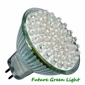 MR16 38 LED 12V 2.4W 92LM WHITE BULB ~20W
