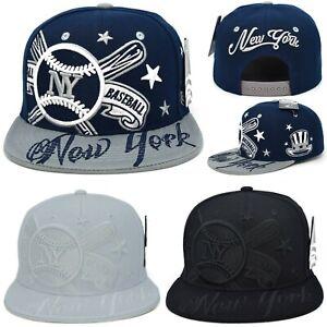 New York New Leader Colossal NY Crossed Bats Era Blue Baseball SnapbacK Hat Cap