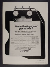1962 Ford Galaxie V8 Engine Options heuer timing board vintage print Ad