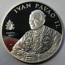 Croatia 1994 Pope Paul II Visit 100 Kuna 1oz Silver Coin,Proof